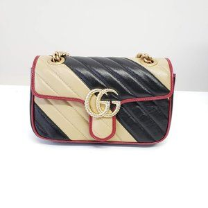 Gucci Vintage Matelasse Striped GG Marmont Bag